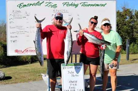 Winners of Emerald Isle Fall Fishing Tournament