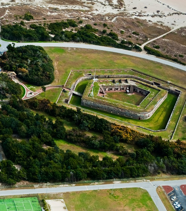 Aerial View of Fort Macon State Park