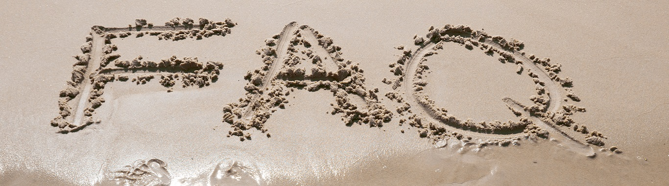 FAQ written in the sand