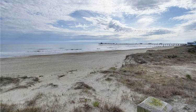 View of Bogue Inlet Pier from Emerald Isle Vacation Rental