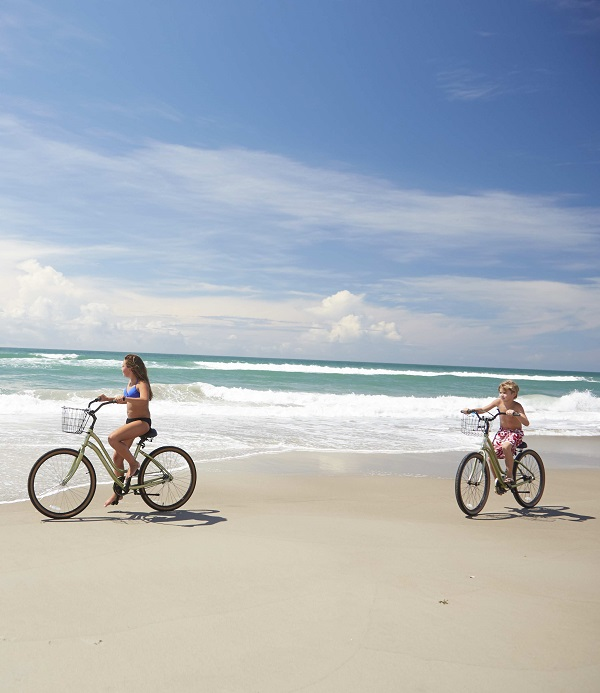 Kids Riding Bikes on Emerald Isle NC Beaches