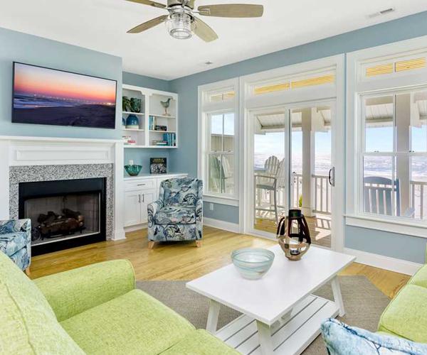 Boardwalk Bungalow Pool Living Room