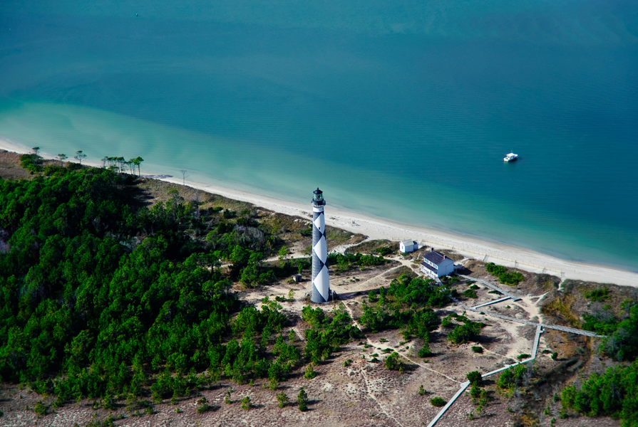 aerial-view-cape-lookout-lighthouse-nc-outer-banks