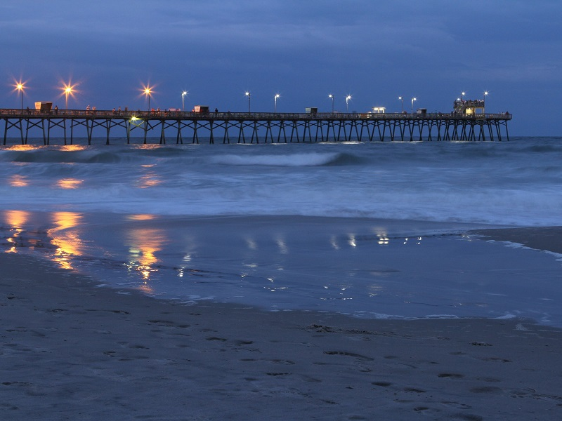 Bogue Inlet Pier at Night