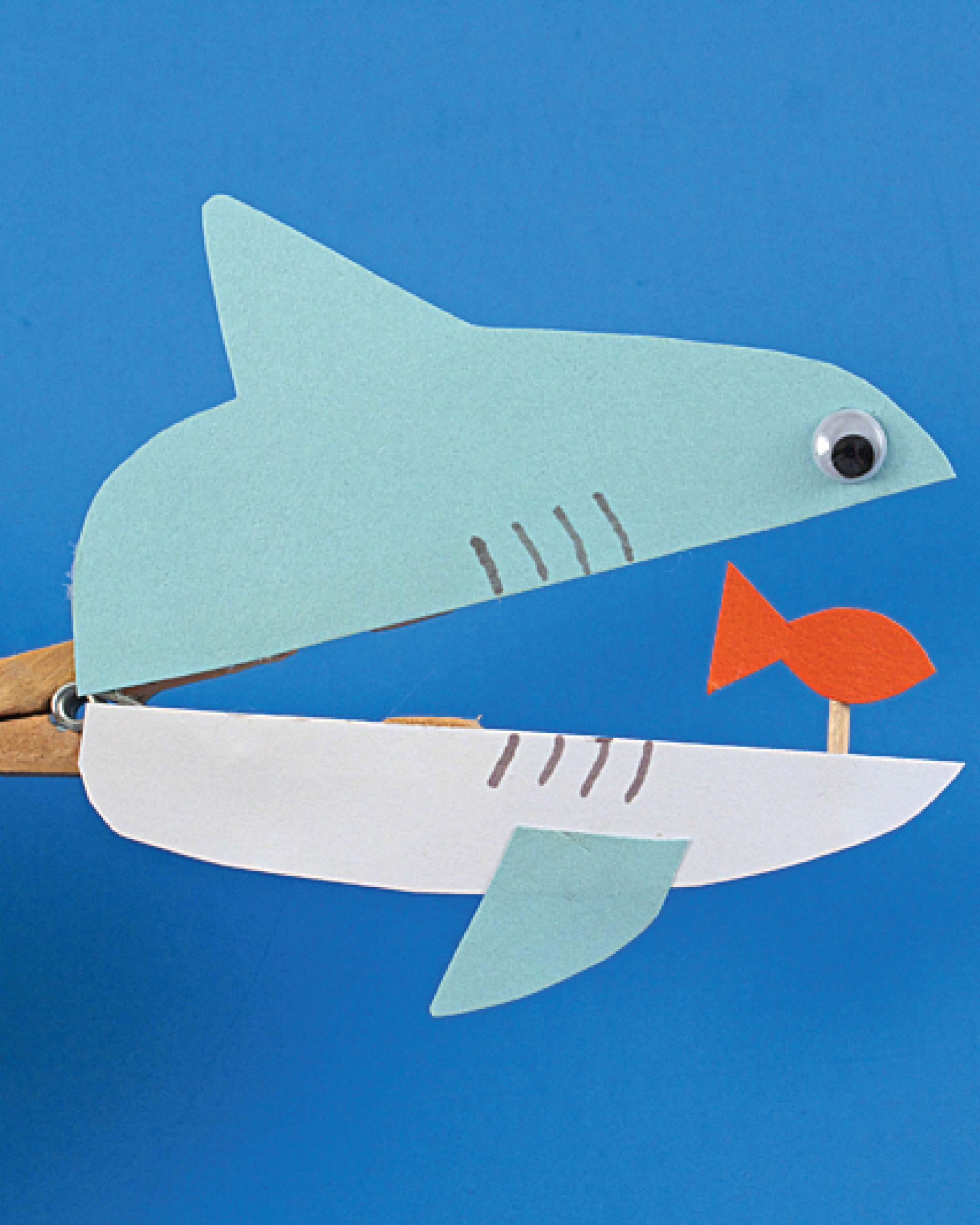 Make a Clothespin Shark at Home
