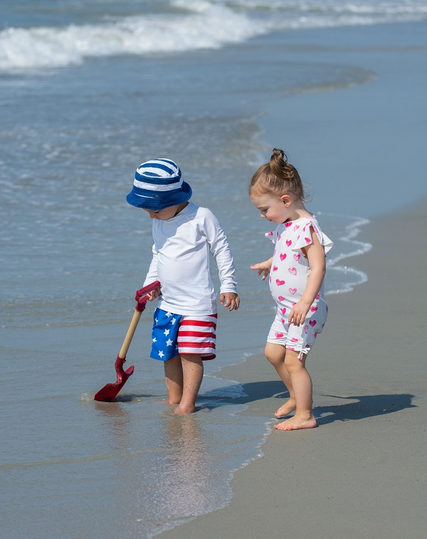 Kids Playing at Beach in Emerald Isle, NC