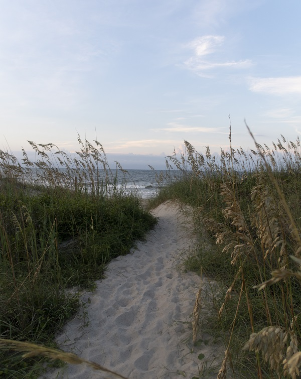 Walkway to Emerald Isle, NC Beaches