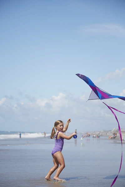 Fly a kite at the beach in Emerald Isle
