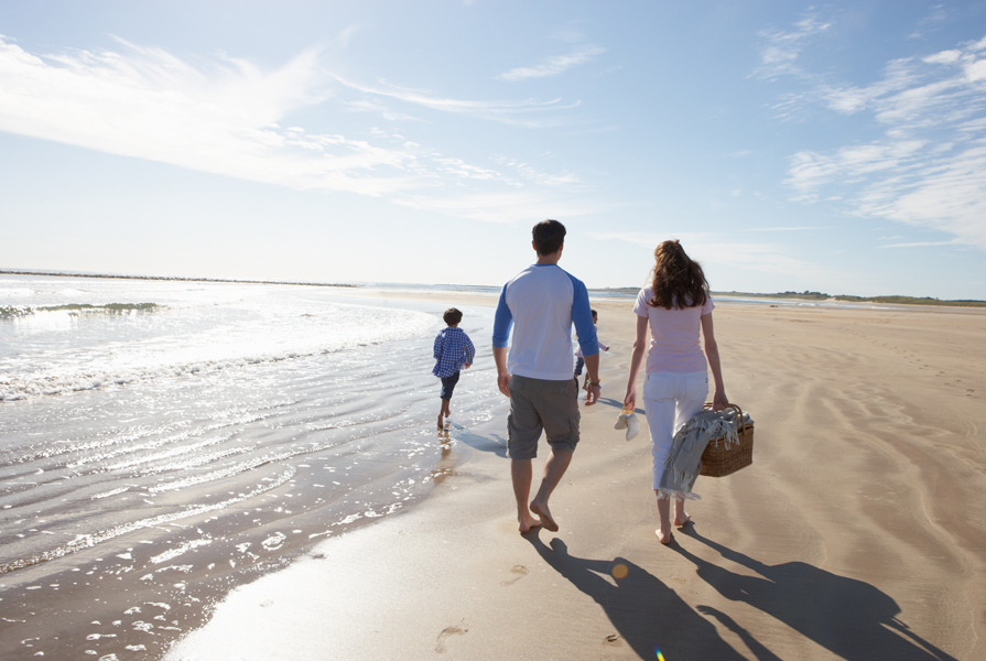 Pack a picnic lunch for the family to enjoy on the beach in Emerald Isle
