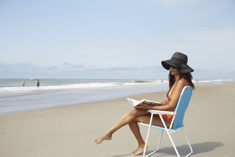 Read a book and relax on the beaches in Emerald Isle NC