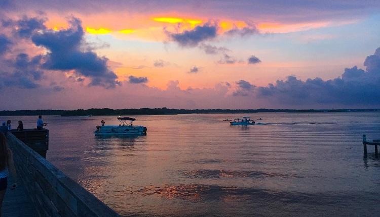 Enjoy Beautiful Sunsets on Bogue Sound NC