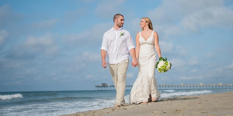 Beach Wedding on North Carolina's Crystal Coast