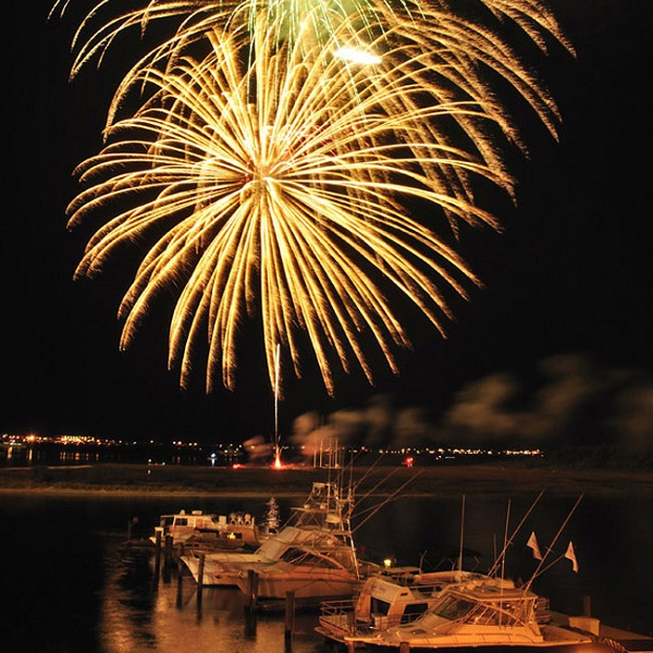 Fireworks in Morehead City, NC