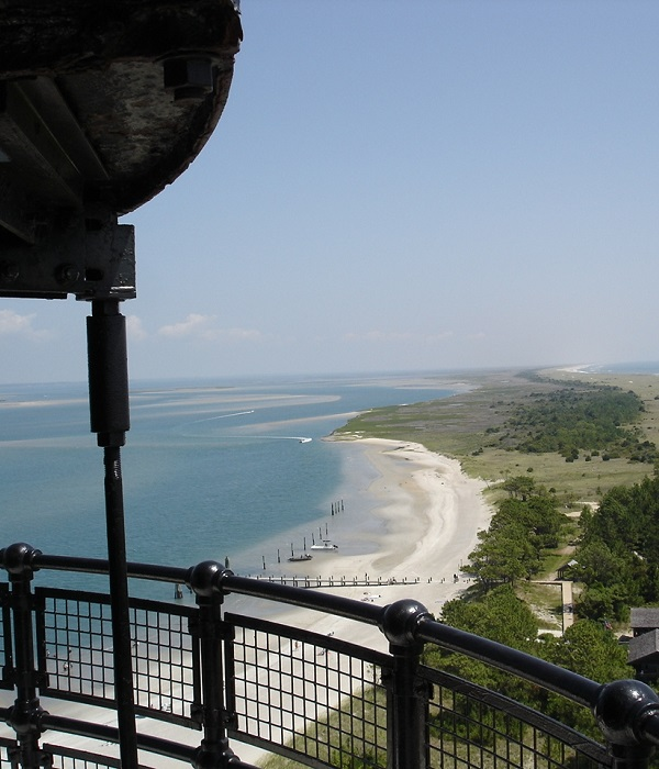 View from atop Cape Lookout Lighthouse and National Seashore