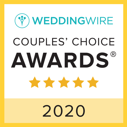 2020 Couples' Choice Awards Winner with WeddingWire