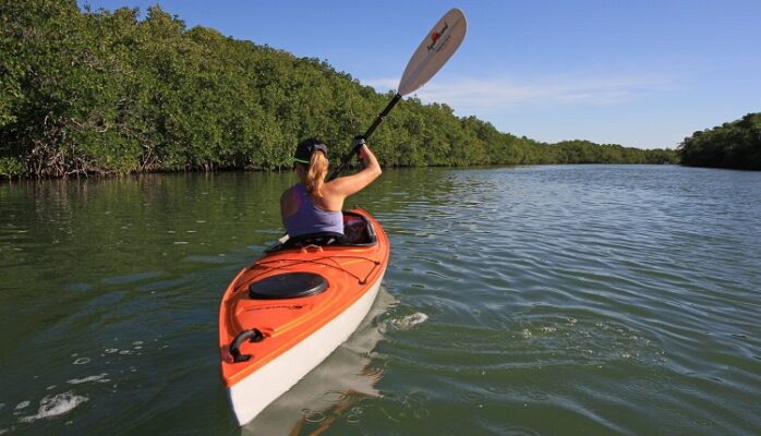 Kayaking at Hammock Beach State Park on Bear Island