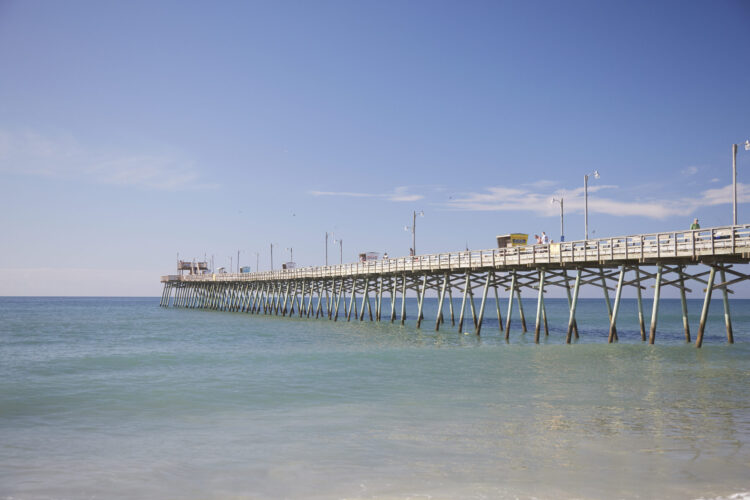 Take in the views from Bogue Inlet Pier during your fall girls getaway
