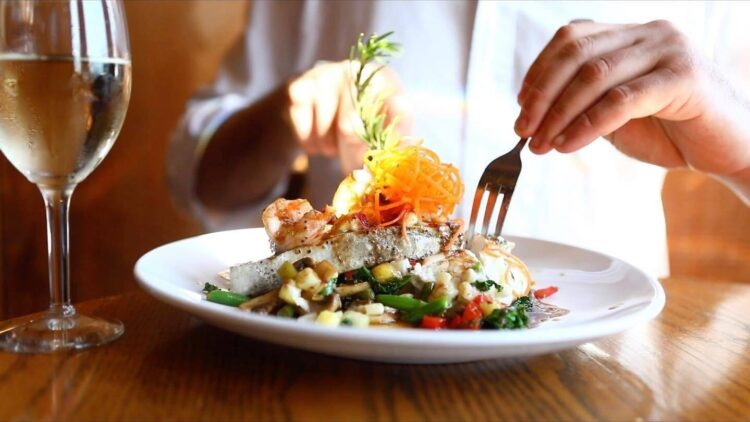 Enjoy great coastal cuisine on your fall girls getaway in Emerald Isle