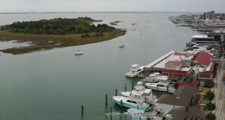 Stroll the Morehead City waterfront during your fall girls getaway