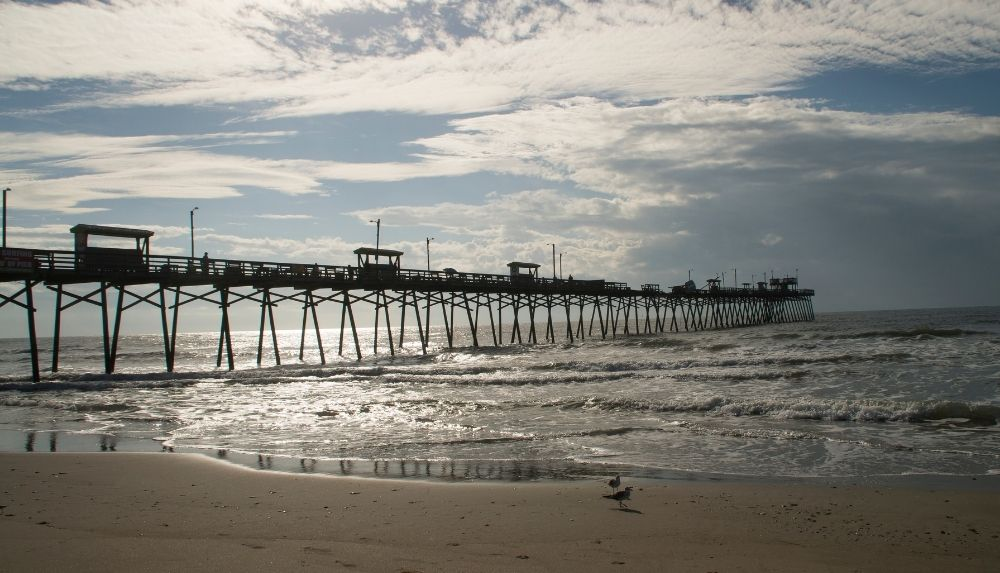 Go fishing at Bogue Inlet Pier