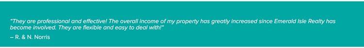 Emerald Isle Realty Property Management Testimonials