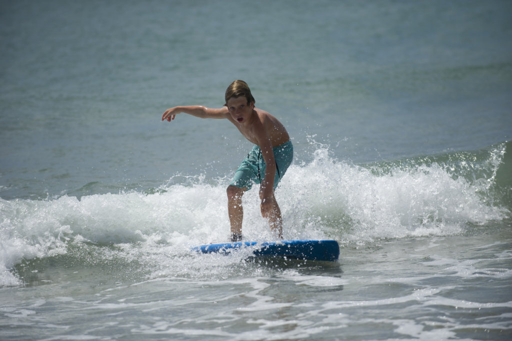Surfing in Emerald Isle NC