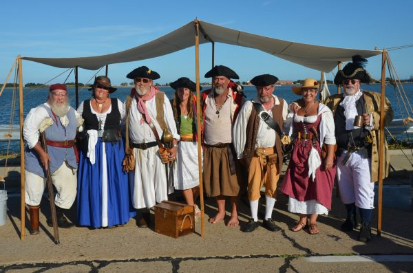 Blackbeards Crew at the Beaufort Pirate Invasion