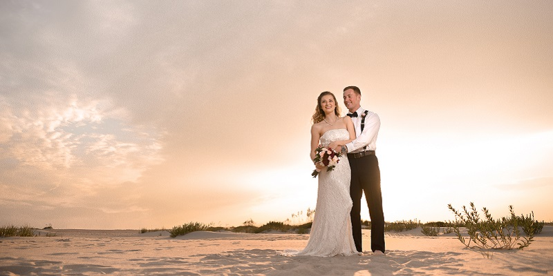 Emerald Isle Beach Destination Wedding Photos