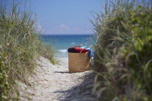 Emerald Isle - Tote Bag and beach path