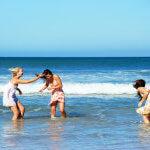 Splashing in Ocean Emerald Isle NC