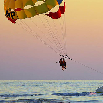 Parasailing on North Carolina's Crystal Coast