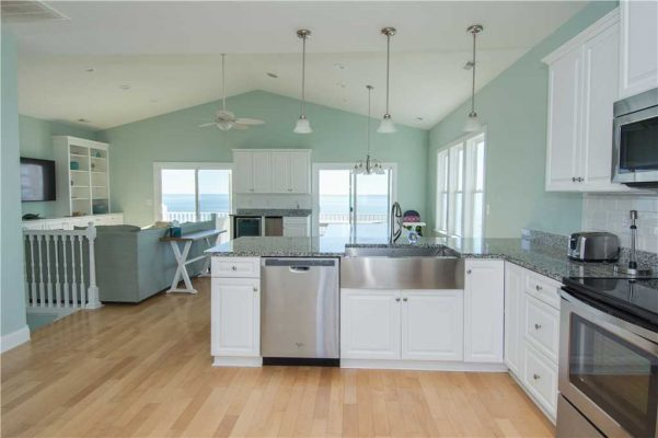 Kitchen with an ocean view in Emerald Isle