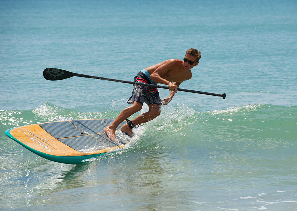 Stand-up Paddleboarding on Beaches of Emerald Isle NC