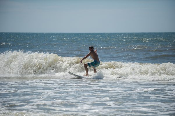 Surfing in Emerald Isle