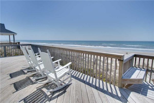 Susies Hideaway East - Oceanfront Deck with Chairs