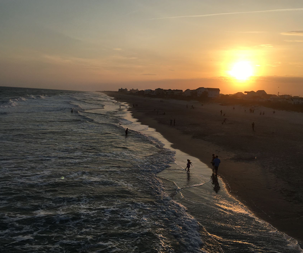Top Places to See the Most Amazing Sunsets on NC's Crystal Coast- Pier