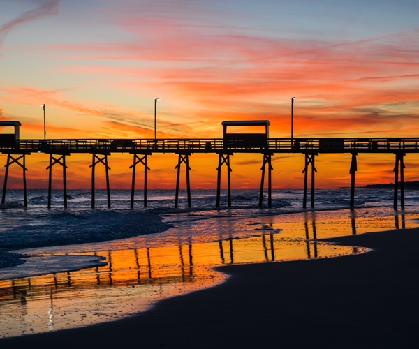 Top Places to See the Most Amazing Sunsets on NC's Crystal Coast - bouge inlet pier