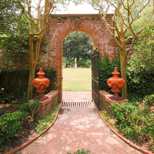 Arch to Garden at Tryon Palace - New Bern NC