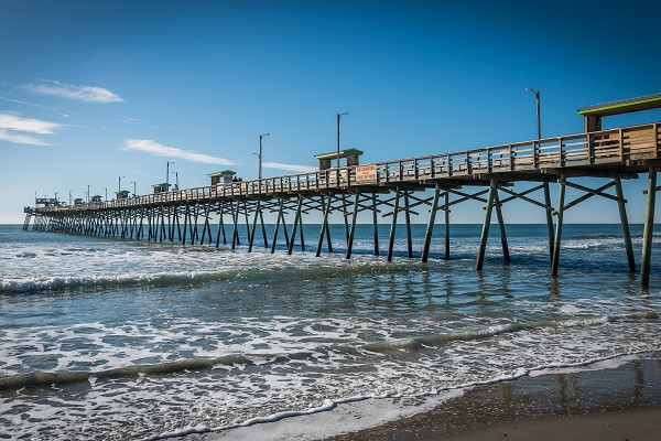 Bogue Inlet Fishing Pier in Emerald Isle NC