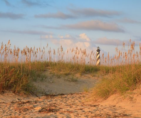 Cape Hatteras National Seashore and Lighthouse in Outer Banks North Carolina