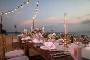Beach Wedding Ceremony Table and Chairs - NC Crystal Coast