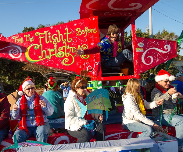 Float in the Emerald Isle Christmas Parade