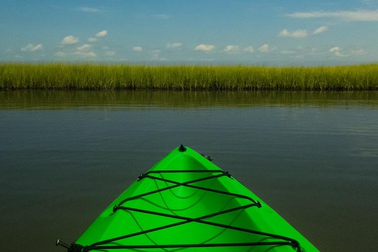 Kayaking Hammocks Beach State Park NC