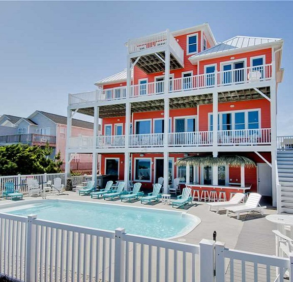 large vacation rental home 8 bedroom in emerald isle, nc