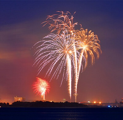 Morehead City Fireworks on New Year's Eve