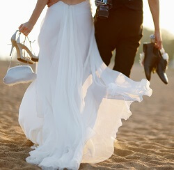 Wedding Couple on Beach - NC Crystal Coast