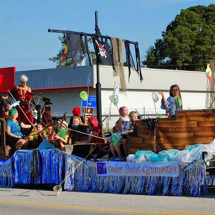 Parade at Swansboro Mullet Festival in Downtown Swansboro, NC