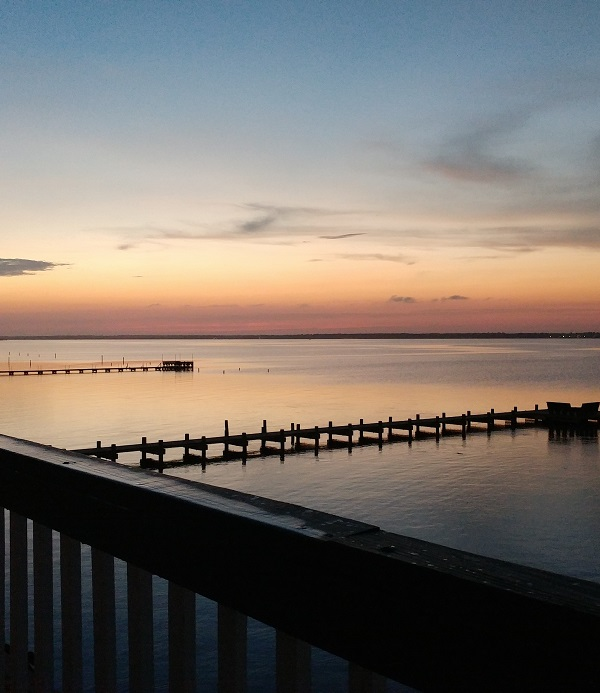 View of Bogue Sound from Emerald Cove Condos in Emerald Isle NC