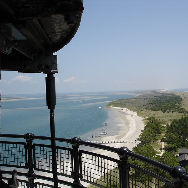 View from Top of Cape Lookout Lighthouse on North Carolina's Crystal Coast