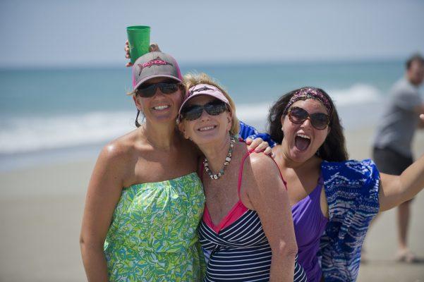wax family women on beach in emerald isle nc